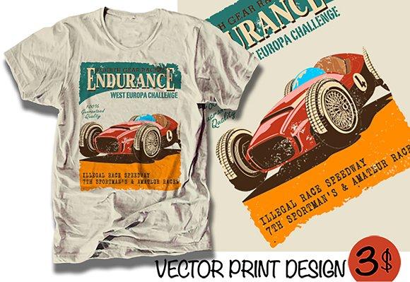 Vector Racing Car Poster