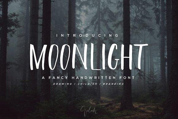 NEW 40% OFF Moonlight Brush Font