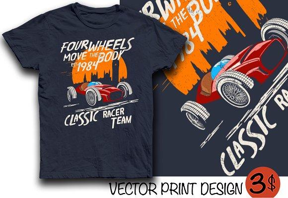 Vector Racingcar Print