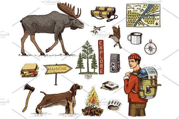 Free Camping Trip Flyer Template » Designtube - Creative ...