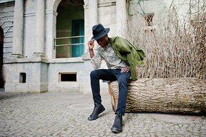 Stylish african american man.