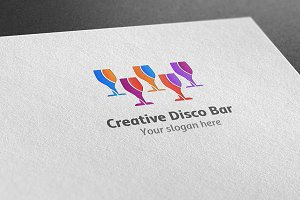Creative Disco Bar Logo