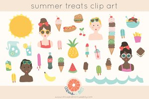 summer treats clip art set
