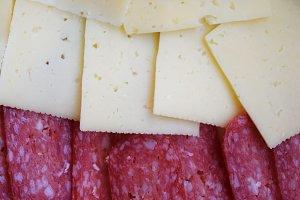 slice bread with salami grana