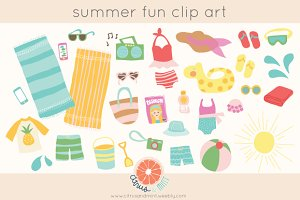 summer party clip art