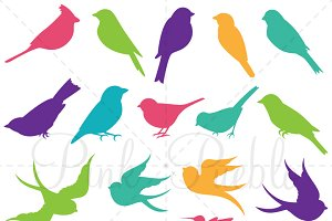 Bird Silhouettes Photoshop Brushes
