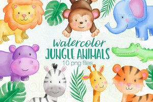 Jungle Animal Watercolor Designs