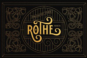 ROTHE - Vintage Luxury Font