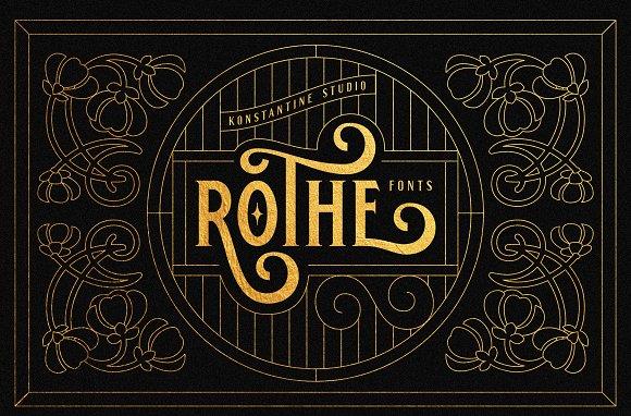 ROTHE Vintage Luxury Font
