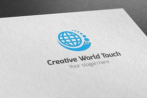 Creative World Touch Logo