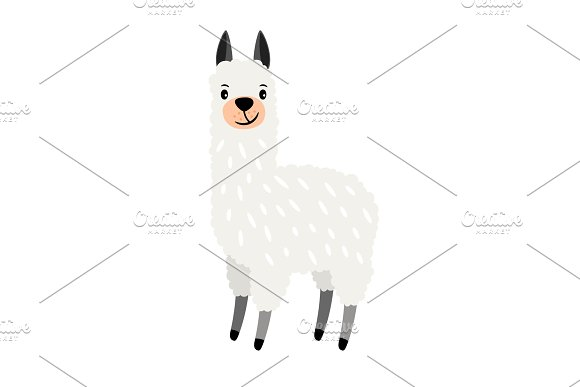 Cute Alpaca Icon