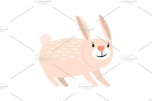 Pink Cartoon Rabbit Icon