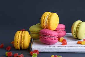 cakes of almond flour macarons