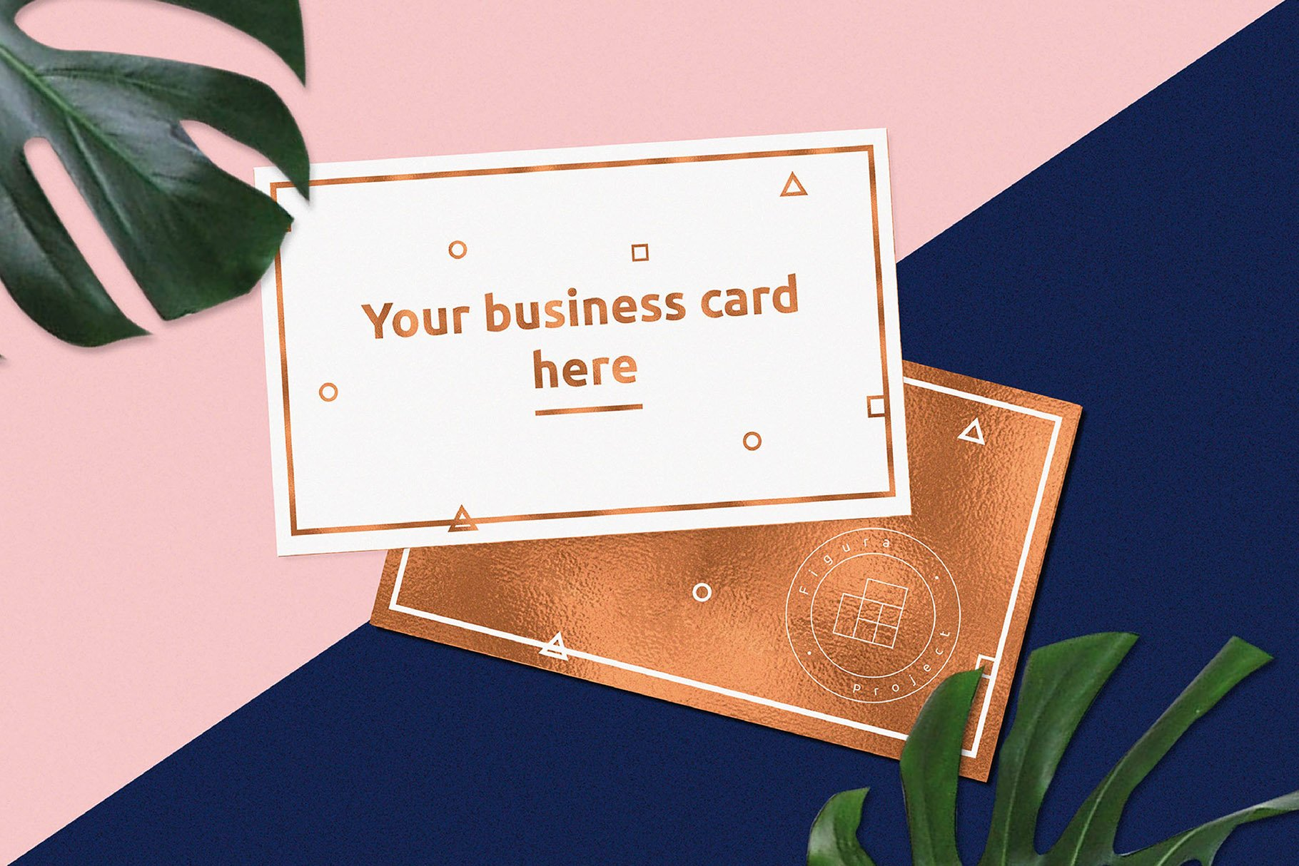 Modern business card mockup product mockups creative market reheart Image collections
