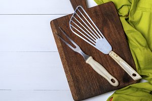 kitchen vintage fork and scapula