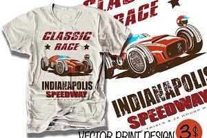 vector race print