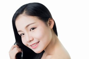 woman skin beauty and health