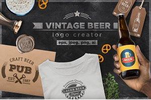 Craft Beer Design Kit Logo creator