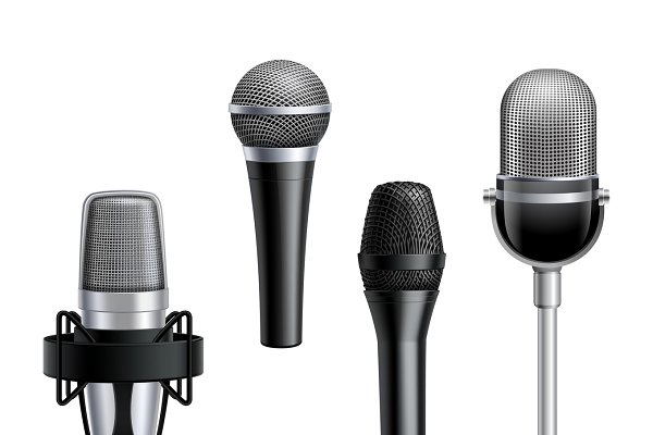 Microphone realistic collection