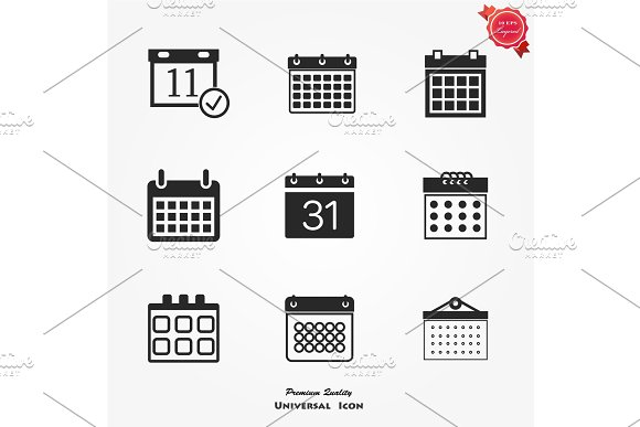 Calendar Vector Icon Illustration Isolated For Graphic And Web Design