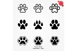 Animal paw set
