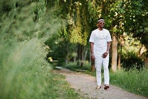 Stylish and rich black man