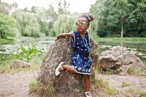 Cute african american baby girl