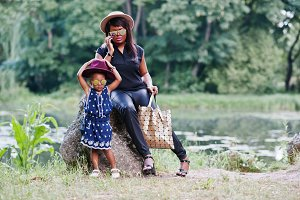 african american mother and daughter