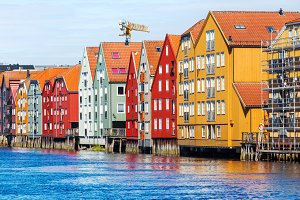 Colorful houses,Trondheim,Norway