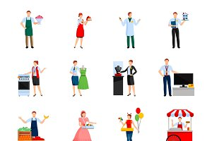 Sellers decorative icons set