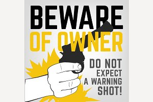 Beware of Owner Poster
