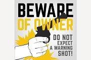Beware of Owner Poster
