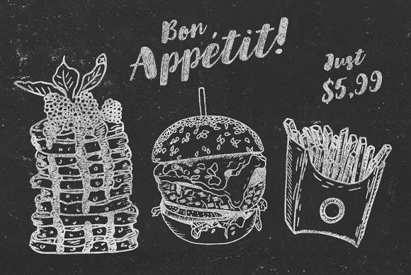 Yummy Meals Vector Set in Illustrations - product preview 3