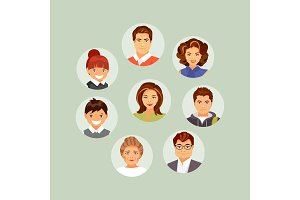 People avatars set