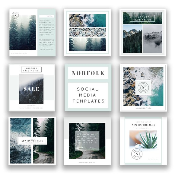 Square Social Media Templates