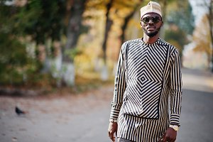 Fashionable african american man