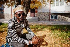 Fashionable african american man