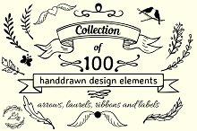 100 design elements set