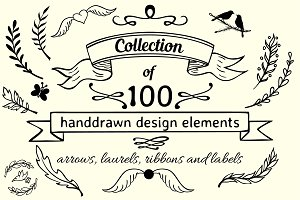 100 design elements set