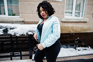 Plus size african american model