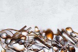 Background with silverware
