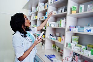African american healthcare pharmacy