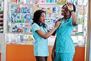 African american healthcare pharmacy