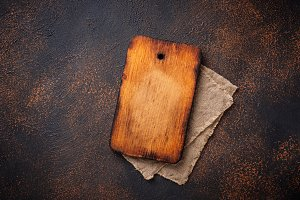 Empty vintage wooden  cutting board
