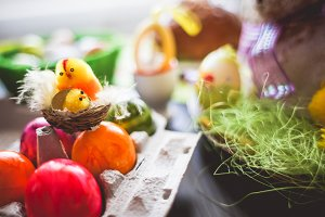 Easter Table Setting Decoration