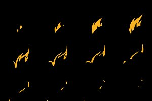 Sprite Sheets Flame. Ready for games.