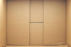 brown corrugated cardboard box
