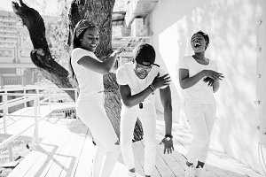 Group of three stylish african band