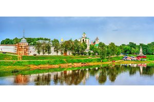 View of the Transfiguration Monastery with the Kotorosl River in Yaroslavl, Russia
