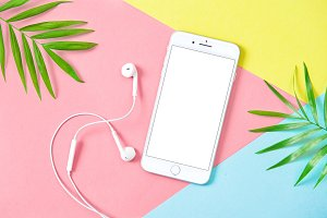 Summer holidays flat lay iphone